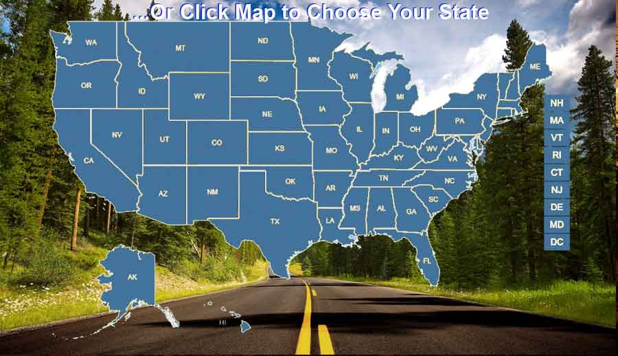 Click your state to find a Rental